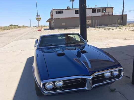 '68 Firebird 400 convertible of Jim McCarty of Palm Springs, California.