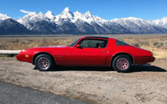 '79 Firebird Esprit Redbird Edition of Robert Forsyth from Wilson, Wyoming