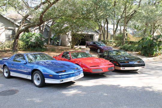 '90, '83, 87 and '95 Trans Ams in the Skelton family