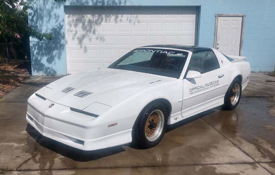 '89 Trans Am GTA SE Indy Pace Car of Alan Darr from Lakeland, Florida