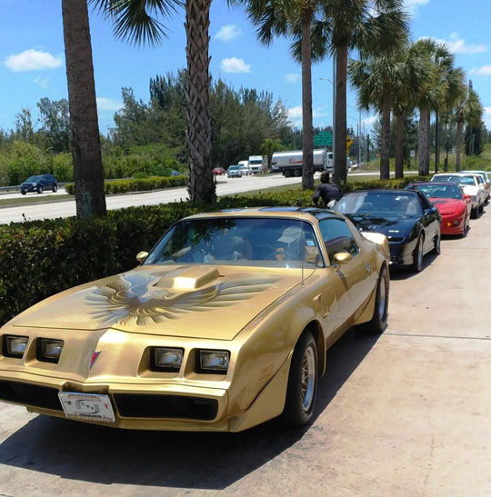 78 Trans Am of Jackie Szczublewski from Weston, Florida on the way to Key Largo