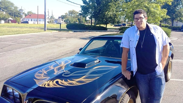 Nicky Sindora, 20, of Trenton with his  restored and#8216;77 Trans Am Special Edition.
